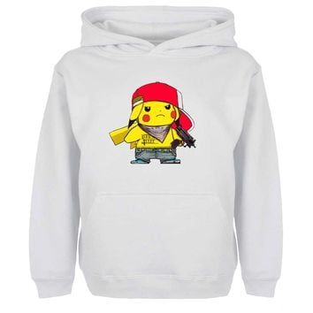 Cute Wear Ash Hat Pikachu With Hand Hoodies Men Women Girl Boy Japanese Anime  Sweatshirt Hip Hop Cosplay JacketsKawaii Pokemon go  AT_89_9