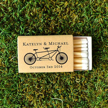 50 Bicycle Icon Custom Printed Matches - 1.00 each
