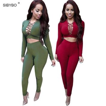 Sexy Rompers Womens Jumpsuit 2016 Long Sleeve Criss Cross Overalls For Women Bodysuit Cotton Bodycon Playsuits And Jumpsuits