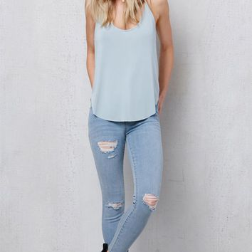 PacSun Jungle Blue Perfect Fit Ankle Jeggings at PacSun.com