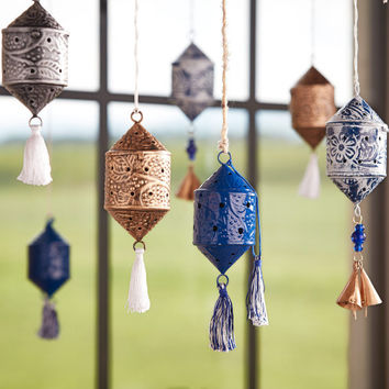 Tasseled Indian Lantern Ornaments