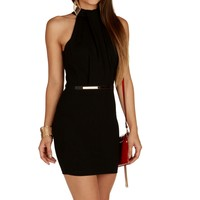 Promo-black Mock Up Fitted Dress