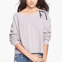 Rubbish® Zip Detail Cabled Sweater (Juniors) | Nordstrom