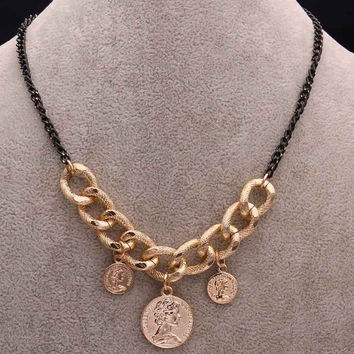 Collares vintage jewelry collar necklace collier leck coins jewellry patek chain FASN 29 MP
