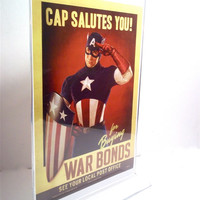 Captain America Custom Made War Bonds Poster from the movie on screen must see Avengers