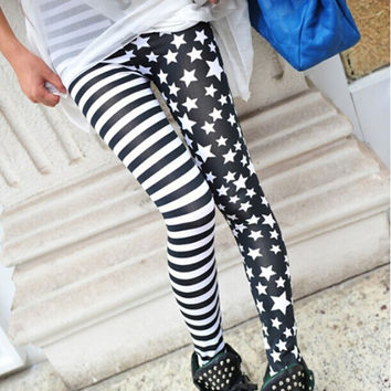 Sexy Womens Fashion Punk Style Leggings Stretchy Pencil Skinny Pants Tigths