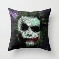 The Joker Throw Pillow by brett66