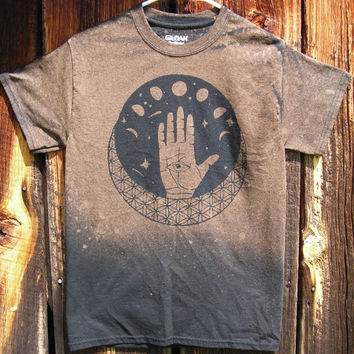 Made to order Sacred Geometry Palmistry Hand Tee