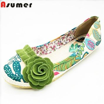 Ballet cloth light women flower flat shoes