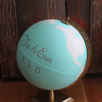 Wedding globe guest book | Guest book alternative | Travel themed wedding | wedding guest book| 12""