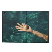 Sea Shell on a Hand in Water iPad Air Cover