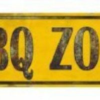BBQ Zone Arrow Street Sign