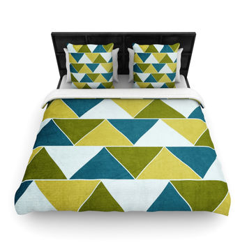 "Catherine McDonald ""Mediterranean"" King Woven Duvet Cover - Outlet Item"