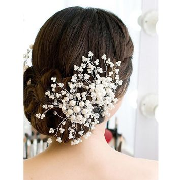 Wedding Comb Hair Accessories Bridesmaid Bridal Accessories Pearl Crystal Tiara Wedding Decoration Hair Jewelry Fashion Hairpins