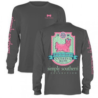 Simply Southern Prep Puppy Long Sleeve T Shirt
