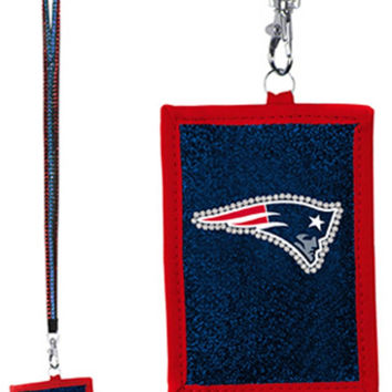 NFL New England Patriots Lanyard with Nylon Wallet