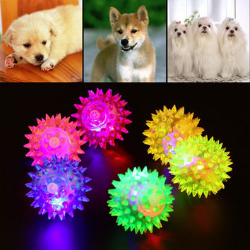 1pcs Dog/Puppy Hedgehog Rubber Bell Ball