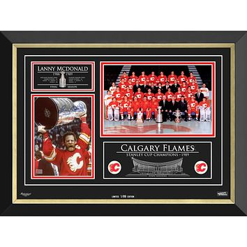 LANNY MCDONALD & THE CALGARY FLAMES STANLEY CUP CHAMPS, LIMITED EDITION 1 OF 89