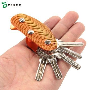DCCK7N3 Multi-Use Compact Aluminum Alloy Key Holder Key Organizer Clip Folder EDC Pocket Tool Gear for Camping Hiking Picnic Traveling
