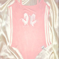 SWEET LORD O'MIGHTY! ANGEL DEVIL BODYSUIT IN PINK