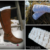 Winter Ridges Boot Cuff; CROCHET PATTERN; PDF
