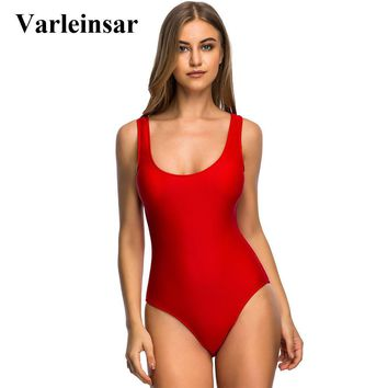 Sexy S - 6XL Large Size Swimwear Plus Size One Piece Swimsuit Female Women Bather 2018 Bathing Suit Swim Backless Monokini V128R