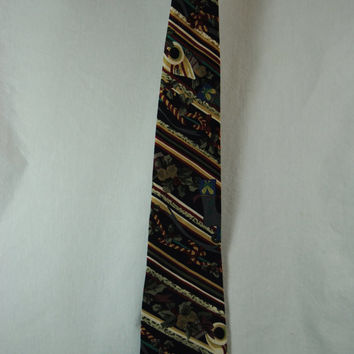 Christmas Men's Necktie Vintage Necktie Holly Candy Canes Ugly Christmas Tie