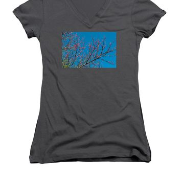 Tennessee Red Bud - Women's V-Neck T-Shirt