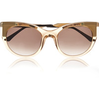 Thierry Lasry - Bunny cat-eye acetate and gold-plated sunglasses