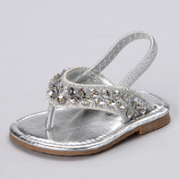 Silver T-Strap Sandal | something special every day