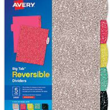 Avery Big Tab Reversible Dividers 24926, 5-tabs