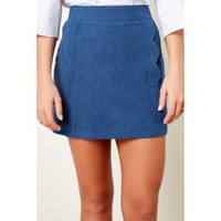 Standout Style Navy Skirt