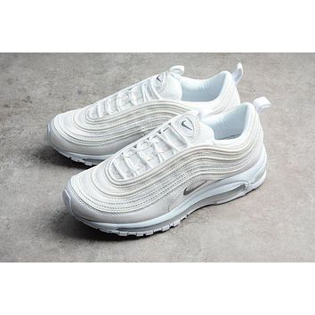 Nike Air Max97 Pink Women Running Sport Casual Shoes Sneakers White I