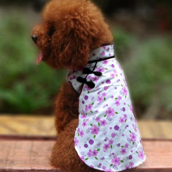 Oriental Cheongsam Shirt Fashion for Dog & Pet Clothes Store Online-Size 8