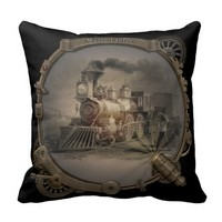 Magic Lantern - Steampunk Style Frame. Pillow