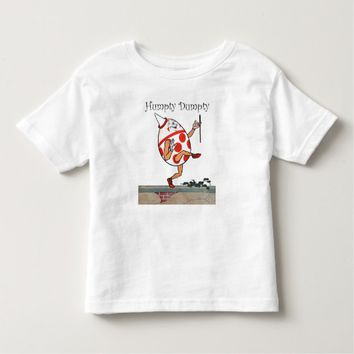 Humpty Dumpty Mother Goose Nursery Rhyme Art Toddler T-shirt