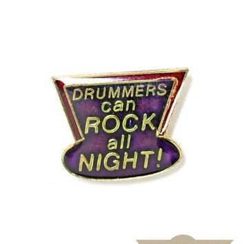 Rock All Night! Vintage Pin