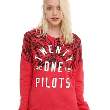 Twenty One Pilots Pattern Logo Girls Pullover Top