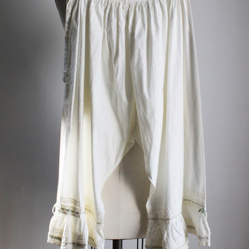 Vintage Edwardian Drawers Bloomers   Victorian Cotton Pettipants a3556591a