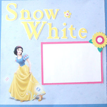 12x12 Premade Scrapbook Pages  Snow White by StrictlyCute on Etsy