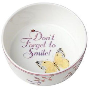 Lenox Butterfly Meadow Don't Forget To Smile Bowl