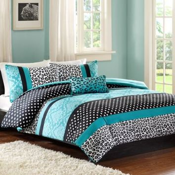 Mizone Chloe Comforter Set in Teal