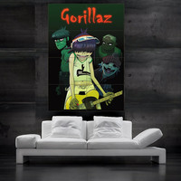The Gorillaz poster print art huge big picture wall 8 parts HH10778 S34