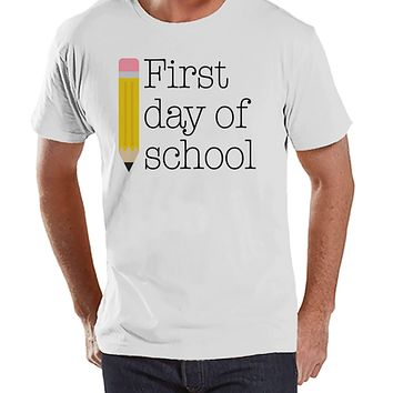 Funny Teacher Shirts - First Day of School Shirt - Teacher Gift - Teacher Appreciation Gift - Gift for Teacher Team - Men's White T-shirt