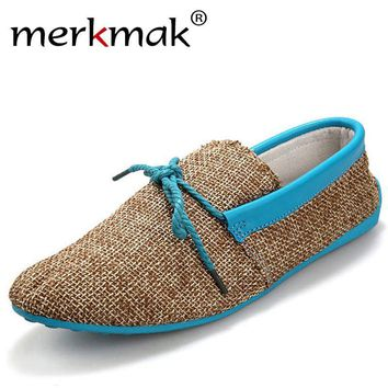 hot sale men shoes spring summer breathable fashion weaving Woven men casual flat shoe