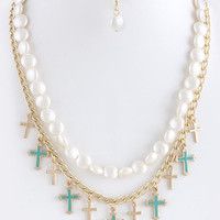CROSS LINK LAYER NECKLACE SET