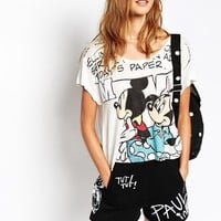 Paul and Joe Sister X Disney T-Shirt with Cartoon Print