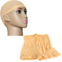2pcs Unisex Elastic Wig Caps glueless Hair Net Wig Liner Hairnet Snood Nylon Stretch Mesh