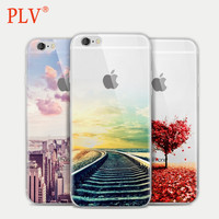 Fashion For iPhone 6 5 5s 6s Case Ultra Thin Soft Waterproof Silicon Mountain Landscape For iPhon Case Phone Case Cover