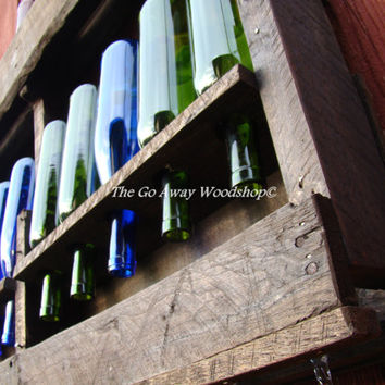Recycled wine and stemware rack